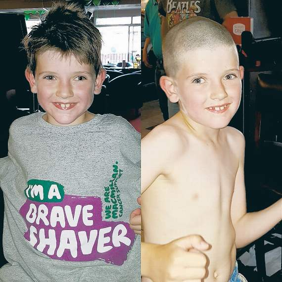 Plucky Bobby takes the Shave challenge for Macmillan