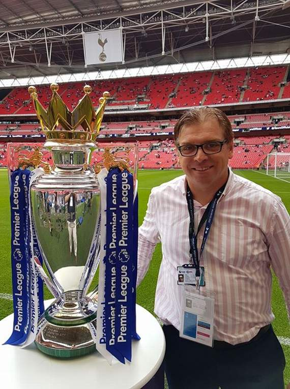 Yellow Sports Brian Jeeves is at Wembley Stadium for Tottenham Hotspur's Premier League clash with Chelsea